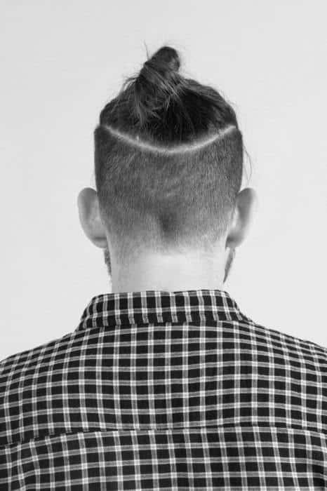 Undercut man bun hairstyle