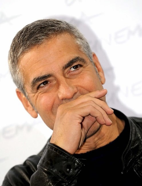 george clooney's short hairstyle