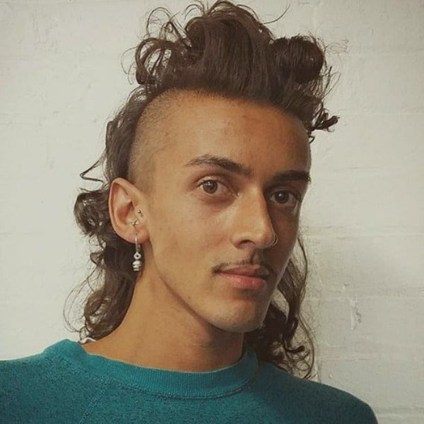 long hairstyle with permed mullet