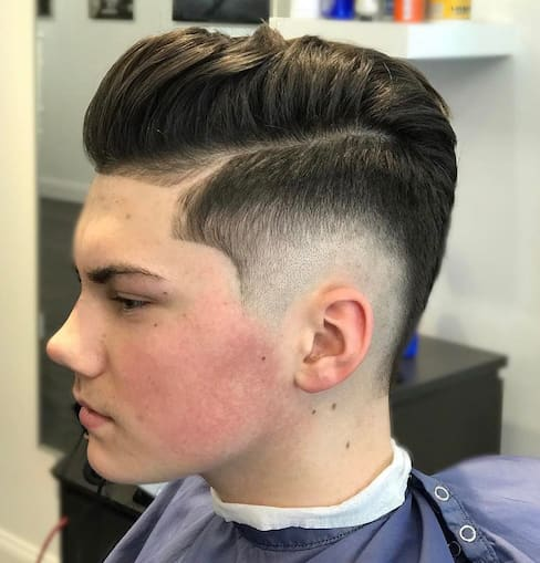 33 Most Coolest And Trendy Boy S Haircuts 2018: 33 Cool Pompadour Fade Haircut 2018