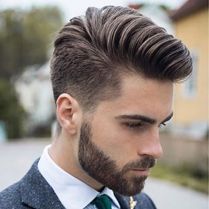 long comb over with low fade
