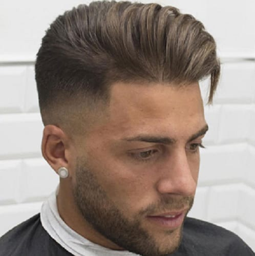long comb over hairstyle with high fade