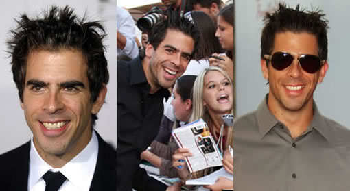 Photo of Eli Roth hair.