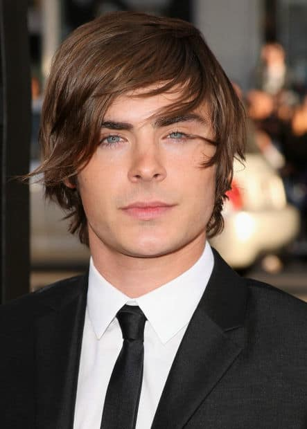 Photo of Zac Efron hair.