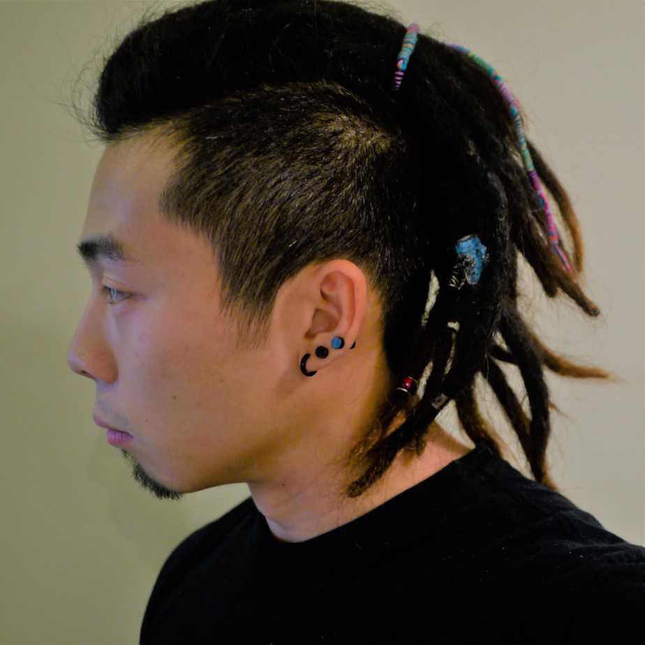 Man Bun with Dreadlocks asian