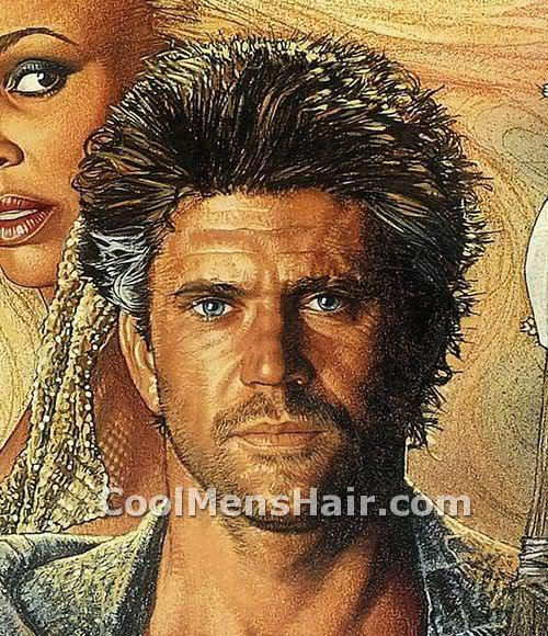 Picture of Mel Gibson Mad Max hairstyle for men.
