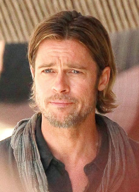 Photo of Brad Pitt hair in World War Z.