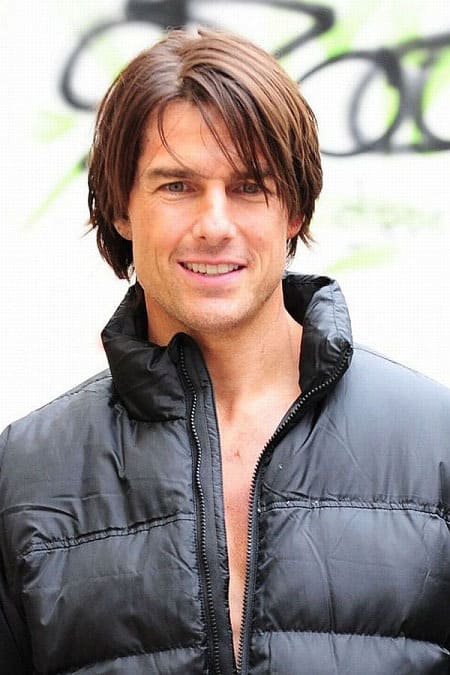 tom cruise hairstyle with blonde highlights
