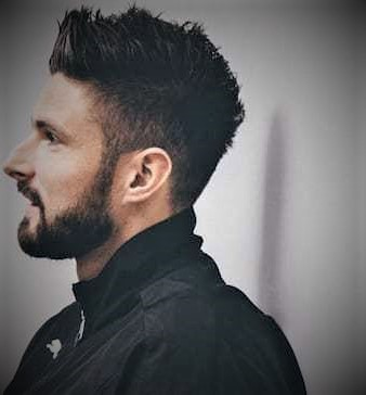 Olivier Giroud Haircut Beard and Sides