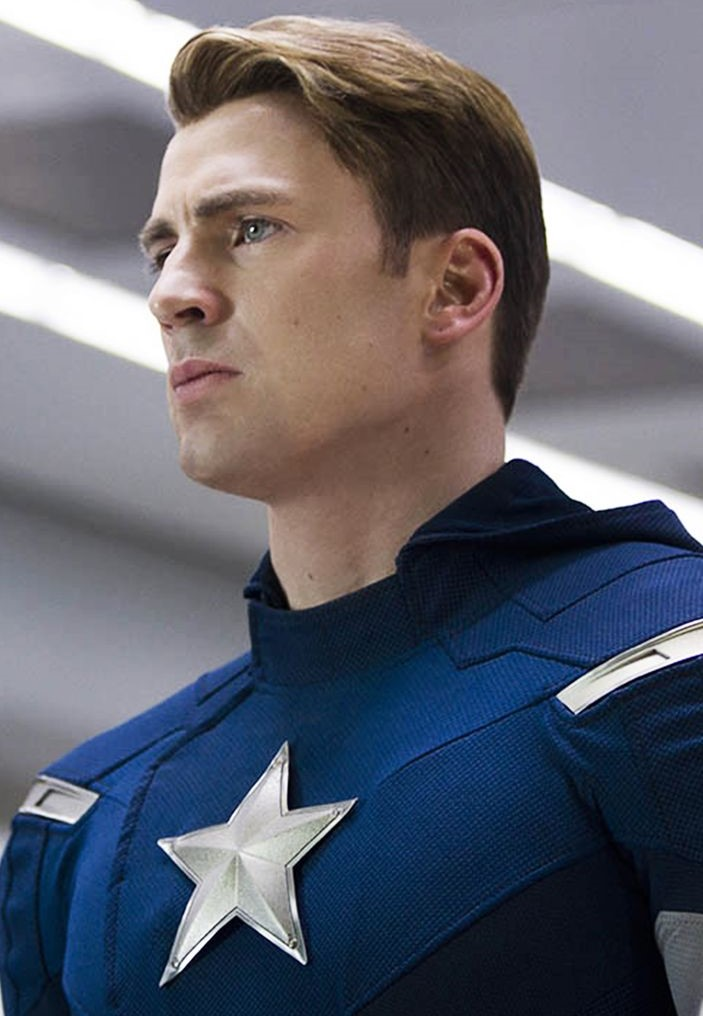 Chris Evans School Boy haircut american