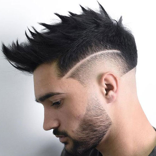 Burst-Fade-Faux-Hawk-Haircut 2019