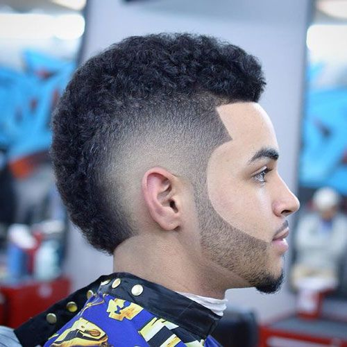 Curls with Burst Fade with Beard 2019