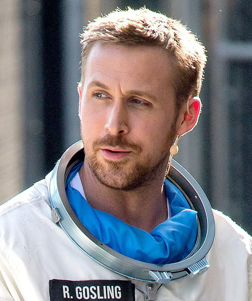 Short Hair with Some Buzz on Side Ryan Gosling