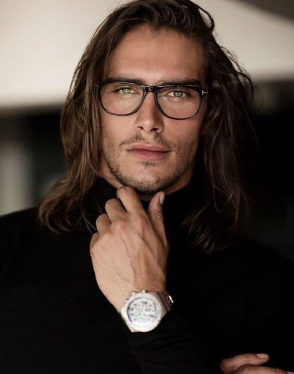 male models with long hairstyle