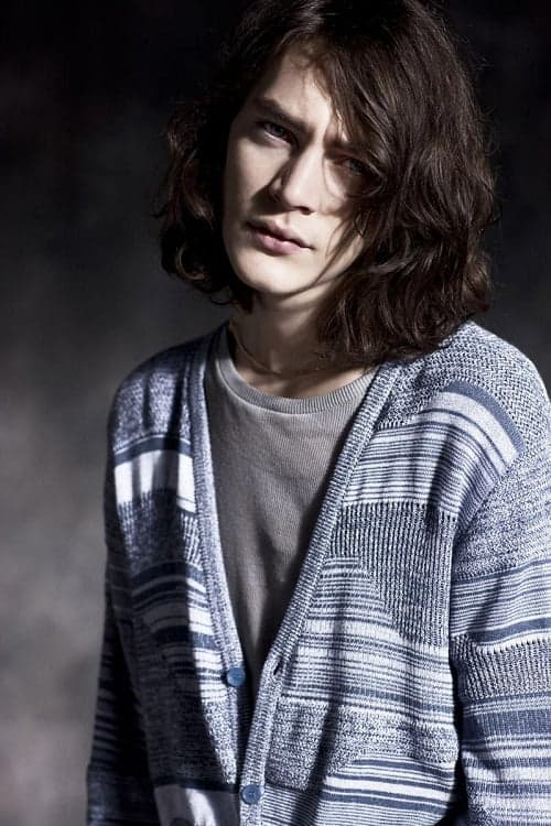 long haired male model